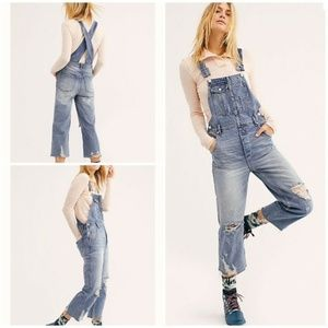 NWT Free People Baggy Boyfriend Overalls Size 26